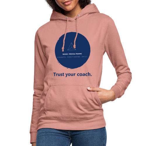 Triforce blend (blue) - Trust your coach - Frauen Hoodie