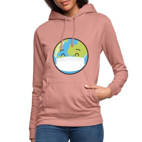 Mundo mascarilla - Sudadera con capucha para mujer