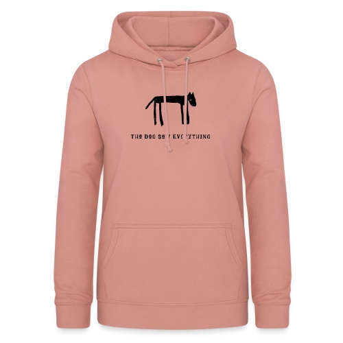 The Dog Saw Everything T-Shirt - Felpa con cappuccio da donna