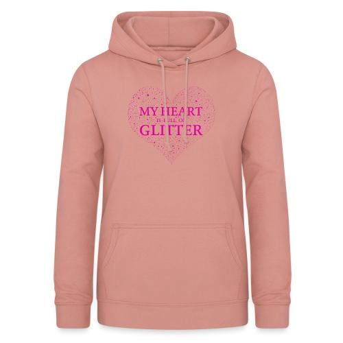 Herz Glitzer - Frauen Hoodie