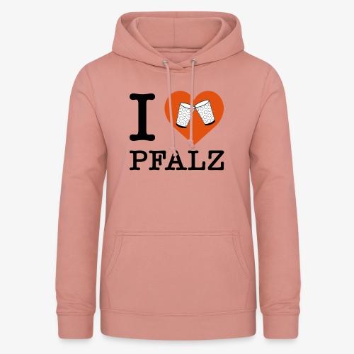 I love Pfalz – Dubbeglas - Frauen Hoodie