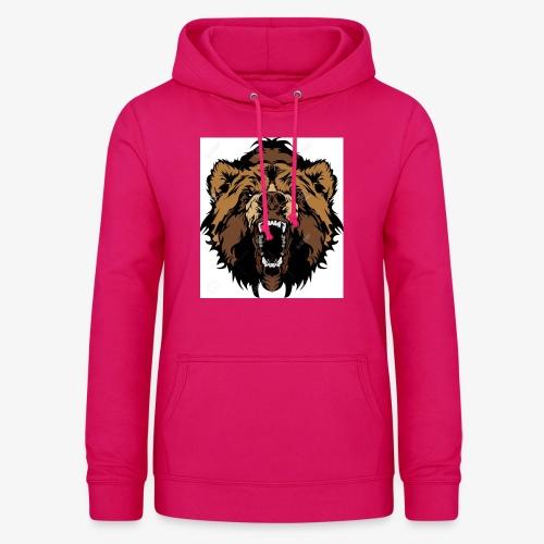 oso grizzly mascota cabeza vectorial - Sudadera con capucha para mujer