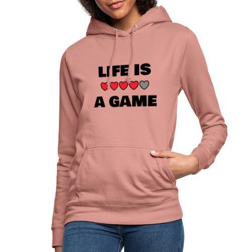 life is a game, black print - Luvtröja dam