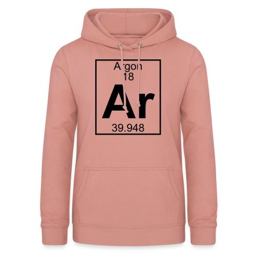 Argon (Ar) (element 18) - Women's Hoodie
