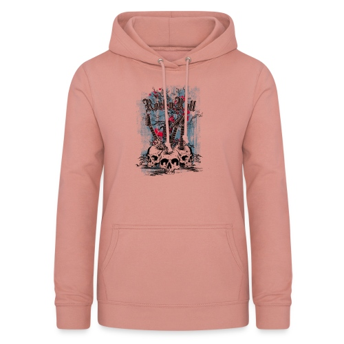 rock n roll skulls - Vrouwen hoodie