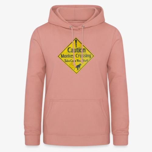Caution Monkey Crossing - Frauen Hoodie