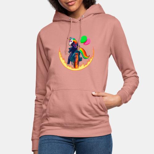 Motocornio - Sudadera con capucha para mujer