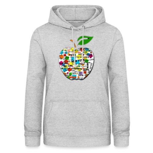 ny apple - Felpa con cappuccio da donna