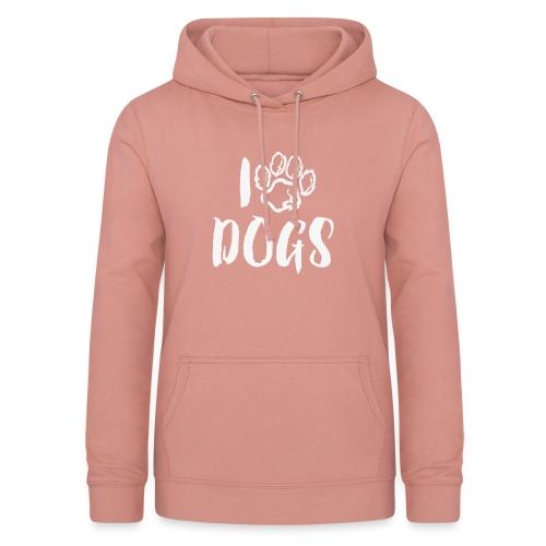 I LOVE DOGS / AMO A LOS PERROS - Sudadera con capucha para mujer