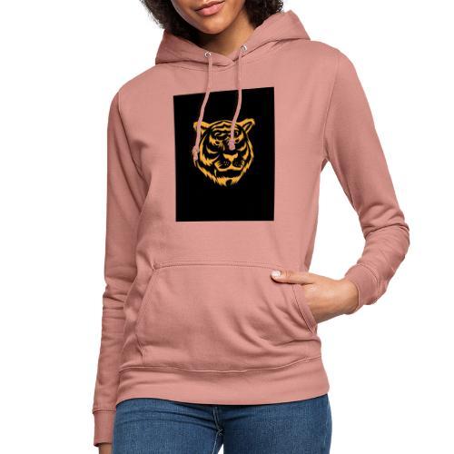 gold tiger - Sudadera con capucha para mujer