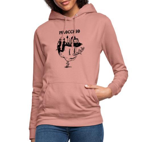 pinocchio - Felpa con cappuccio da donna