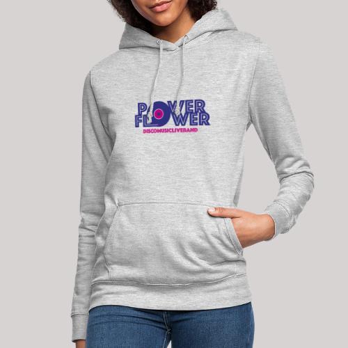 Logo PowerFlower colori - Felpa con cappuccio da donna