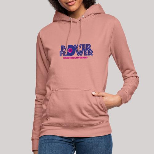 Logo PowerFlower colori - Felpa con cappuccio da donna