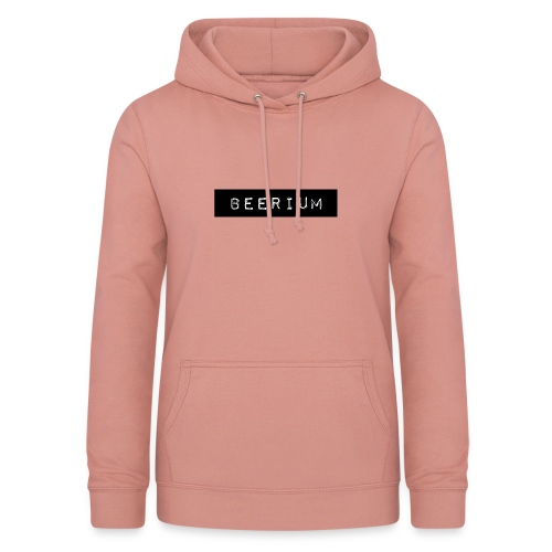 BEERIUM logo svart - Luvtröja dam