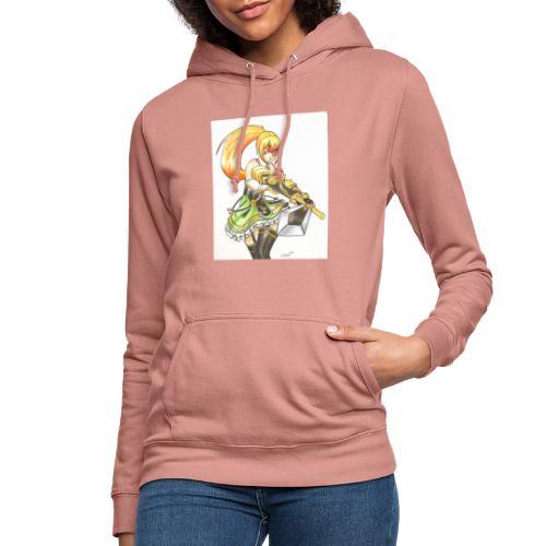 Ragazza manga guerriera - Felpa con cappuccio da donna