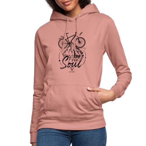 FREE SOUL black - Sudadera con capucha para mujer
