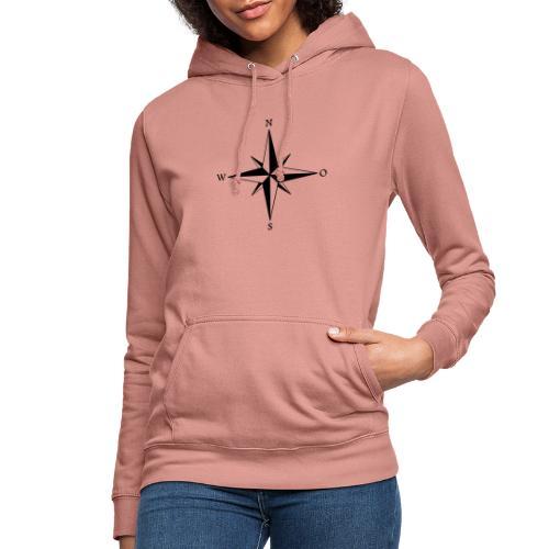 Kompas sort - Dame hoodie
