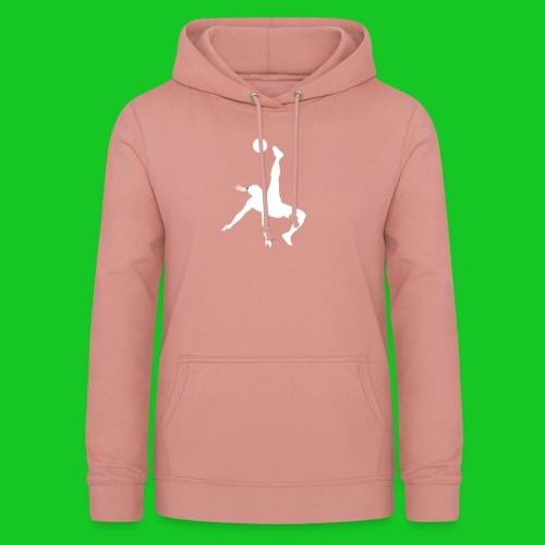Voetbal omhaal vrouw - Vrouwen hoodie