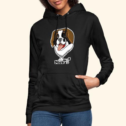 Nice Dogs san bernardo - Felpa con cappuccio da donna