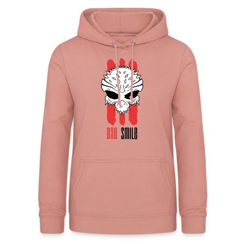 3Red Lines Skull mit schrift - Frauen Hoodie