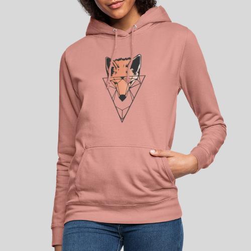 Fuchs Geometrie schwarz-orange - Frauen Hoodie
