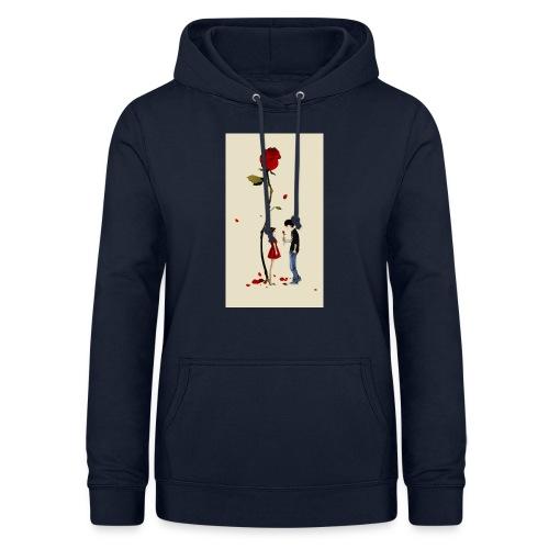 Roses are red - Sudadera con capucha para mujer