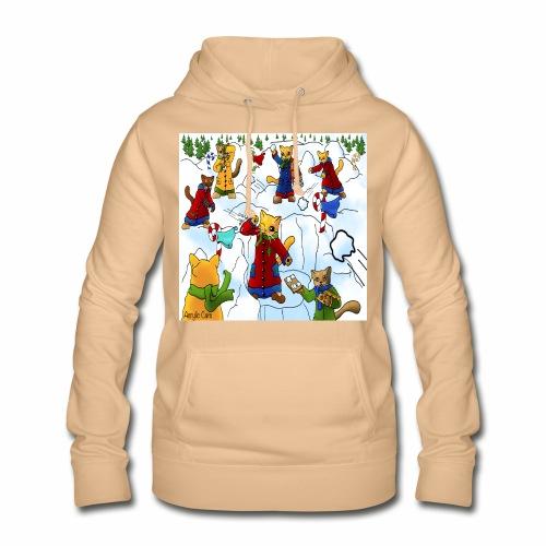 Christmas Snowball Cats 2 - Women's Hoodie