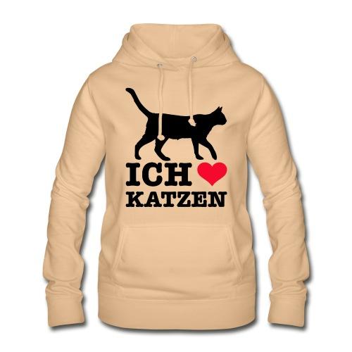 Ich liebe Katzen mit Katzen-Silhouette - Frauen Hoodie