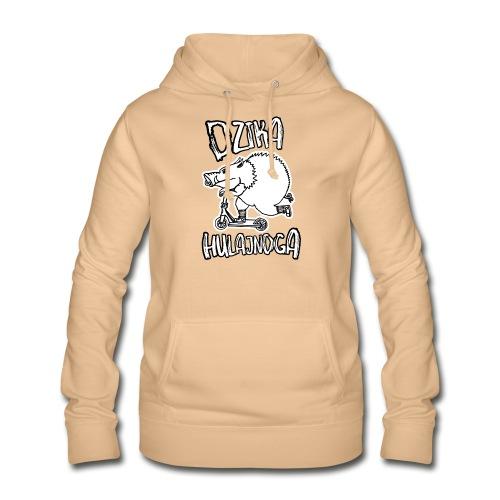 dzik na hulajnodze - Bluza damska z kapturem