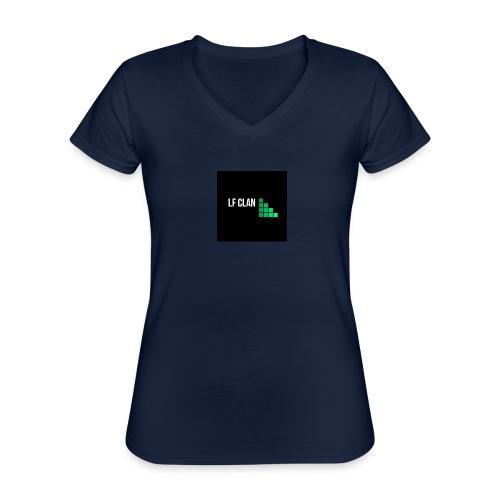 LF CLAN - Klassisk T-shirt med V-ringning dam