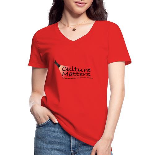 Eenzijdige bedrukking - Klassiek vrouwen T-shirt met V-hals