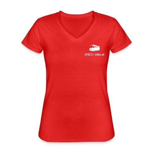 Haco-Video Logo - Klassisches Frauen-T-Shirt mit V-Ausschnitt