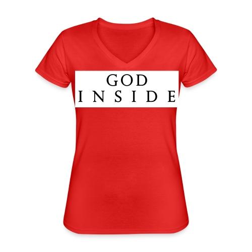 GOD INSIDE - Classic Women's V-Neck T-Shirt