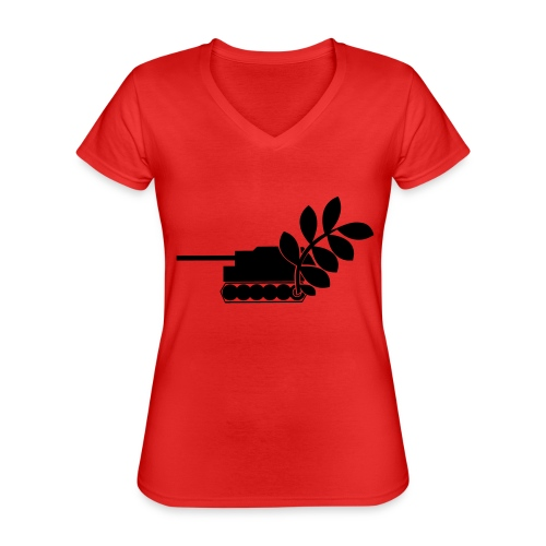 Global Campaign on Military Spending - Logo gray - Classic Women's V-Neck T-Shirt