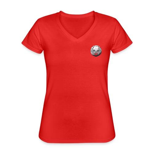 Rigormortiz Black and White Design - Classic Women's V-Neck T-Shirt