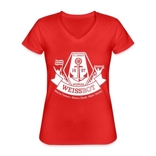 Meine Farben. Meine Stadt. Mein Verein - Klassisches Frauen-T-Shirt mit V-Ausschnitt
