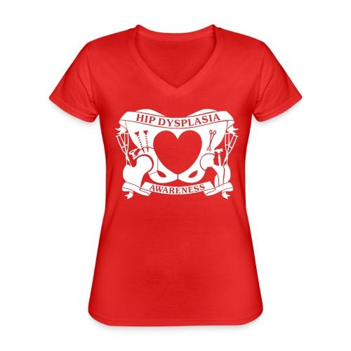 Hip Dysplasia Awareness - Classic Women's V-Neck T-Shirt