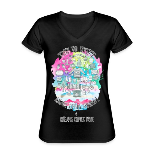 Time to Hygge - T-shirt classique col V Femme