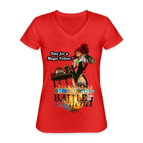 Mythrilisatrice- Battle for Legend X 01Musculation - T-shirt classique col V Femme