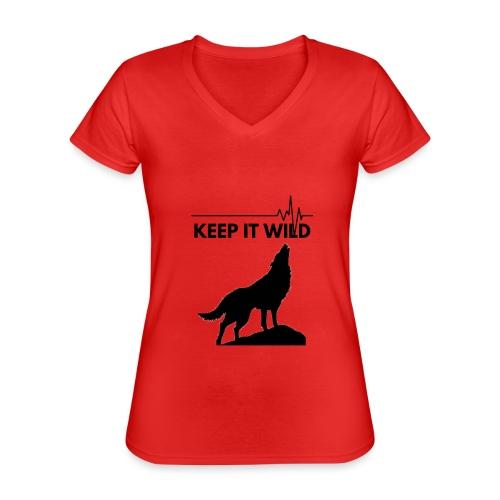 Keep it wild - Klassisches Frauen-T-Shirt mit V-Ausschnitt