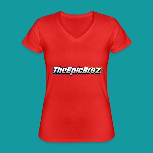 TheEpicBroz - Klassiek vrouwen T-shirt met V-hals