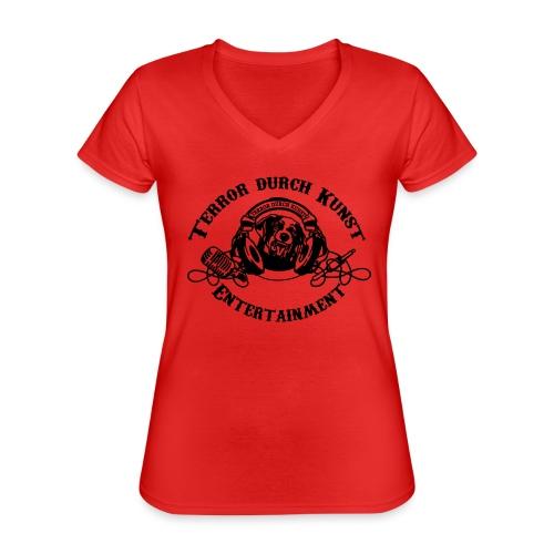 tdklogoschwarz 3 - Klassisches Frauen-T-Shirt mit V-Ausschnitt