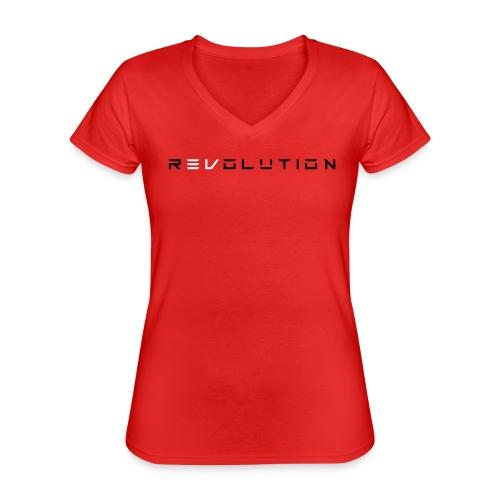 REVOLUTION RED - Klassisches Frauen-T-Shirt mit V-Ausschnitt