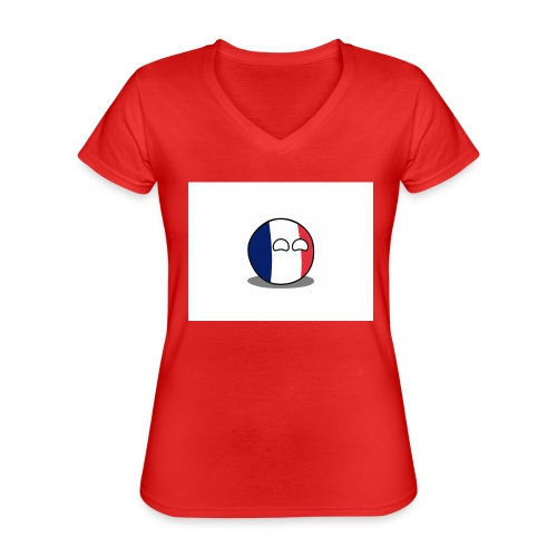 France Simple - T-shirt classique col V Femme