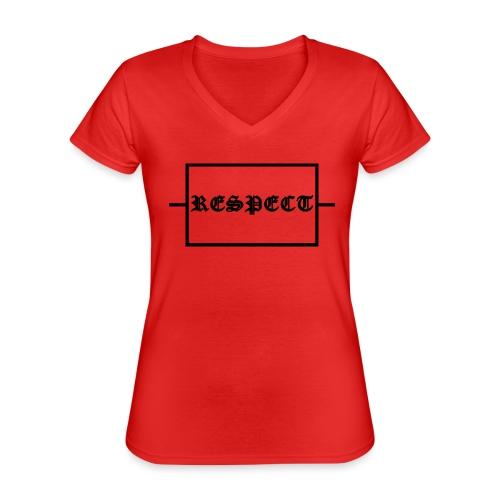 Widerstand für RESPECT - Klassisches Frauen-T-Shirt mit V-Ausschnitt