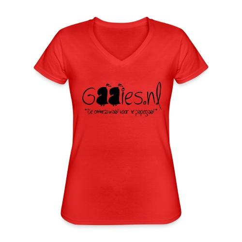 gaaies - Klassiek vrouwen T-shirt met V-hals