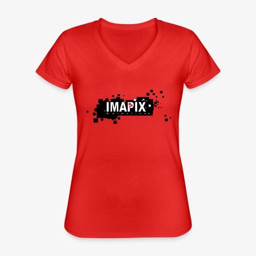 IMAPIX ANIMATION Rectro02 - T-shirt classique col V Femme