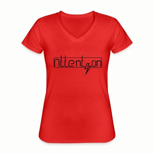 attention - Klassiek vrouwen T-shirt met V-hals