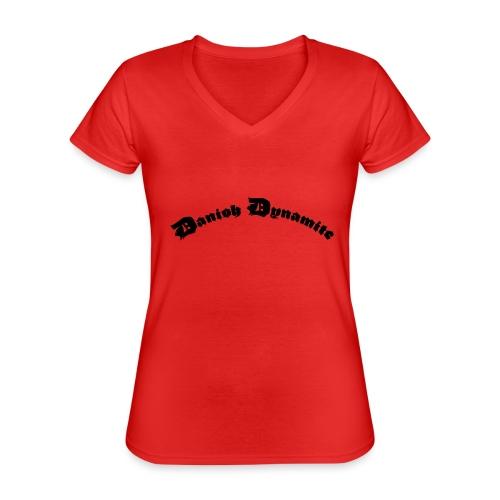 Danish Dynamite - Klassisk dame T-shirt med V-udskæring