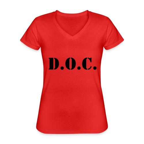 Department of Corrections (D.O.C.) 2 back - Klassisches Frauen-T-Shirt mit V-Ausschnitt